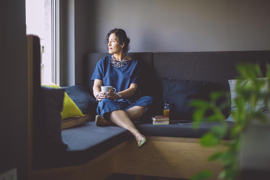 Businesswoman taking a break Photograph by Eva-Katalin