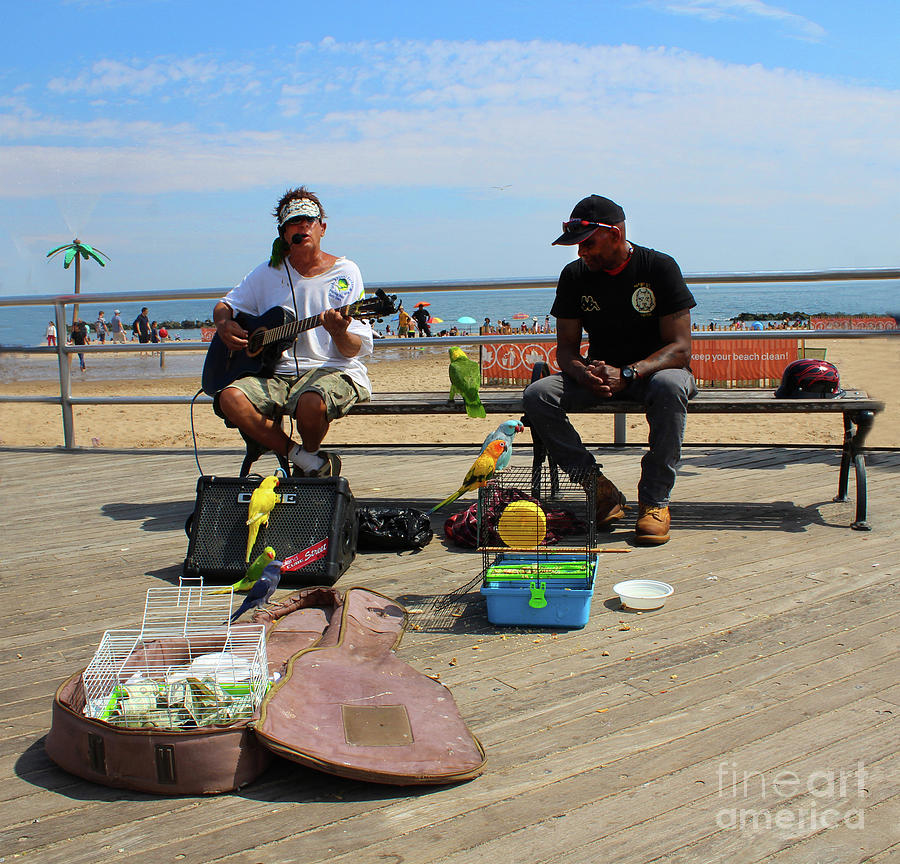 Busking On Coney Island by Doc Braham