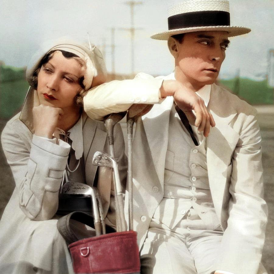 Buster Keaton And Charlotte Greenwood Photograph