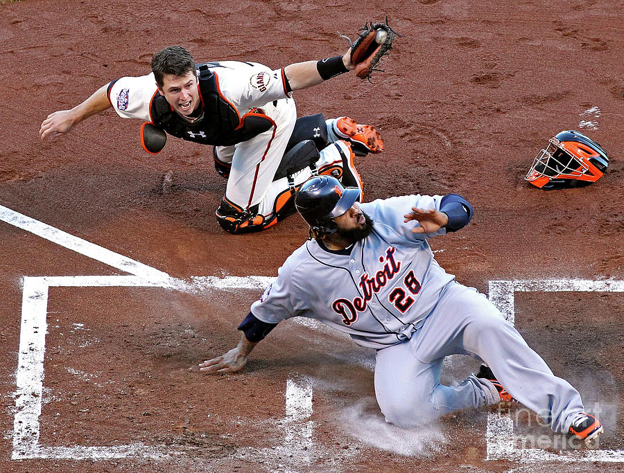 Buster Posey and Prince Fielder Photograph by Christian Petersen