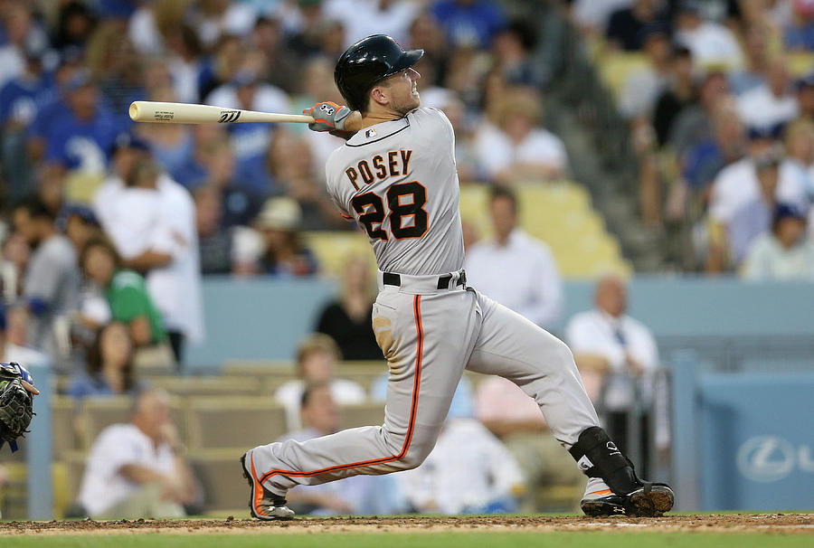 Buster Posey Photograph by Stephen Dunn