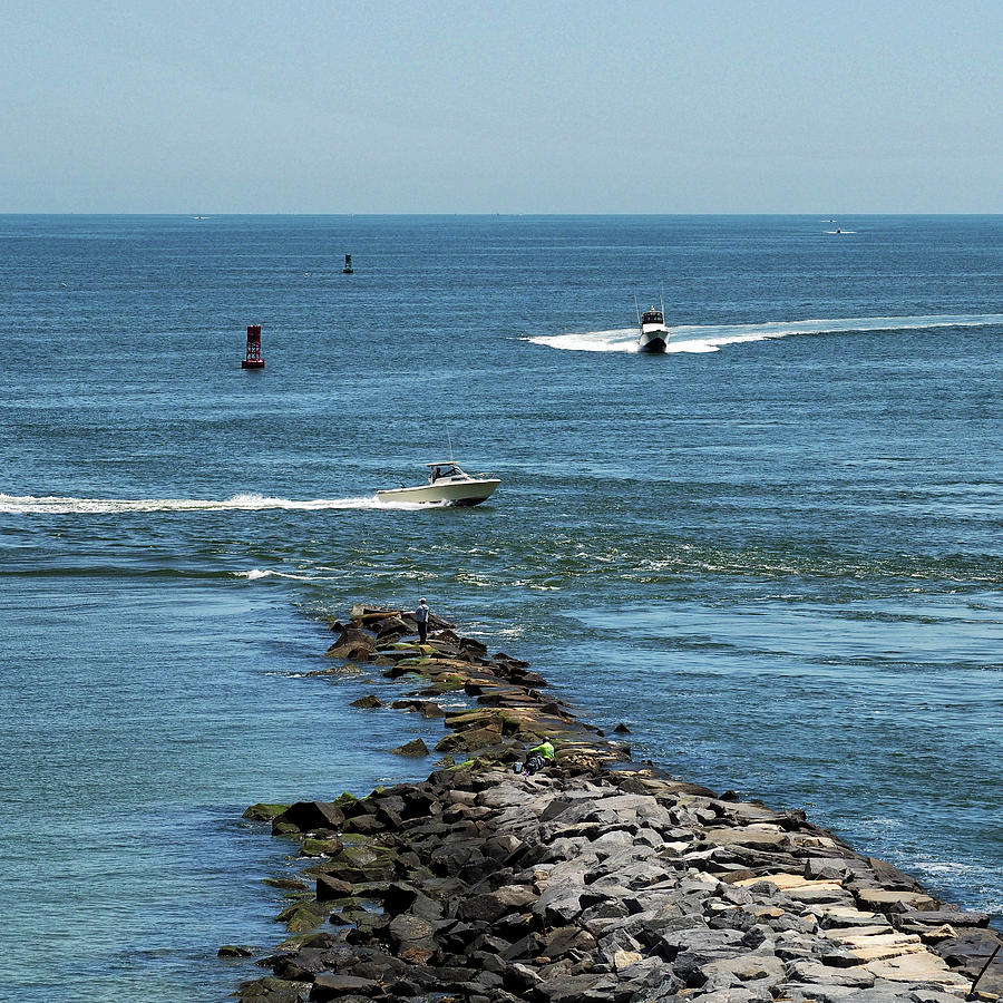 Busy Inlet at Delaware Seashore State Park by Bill Swartwout Photography
