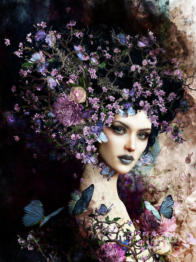 Butterflies And Blossoms Digital Art