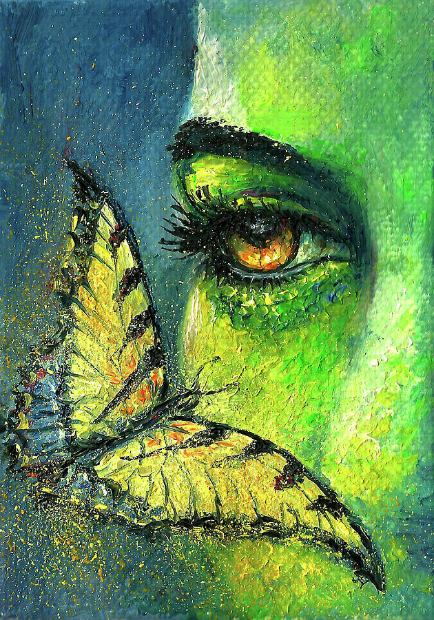 Abstract Face Painting - Butterfly Fantasy by Natalja Picugina