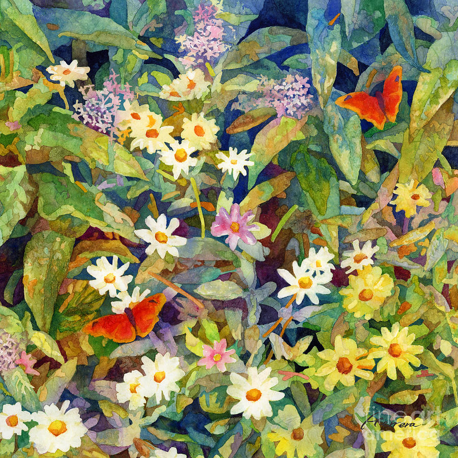 Butterfly Garden-square Format Painting