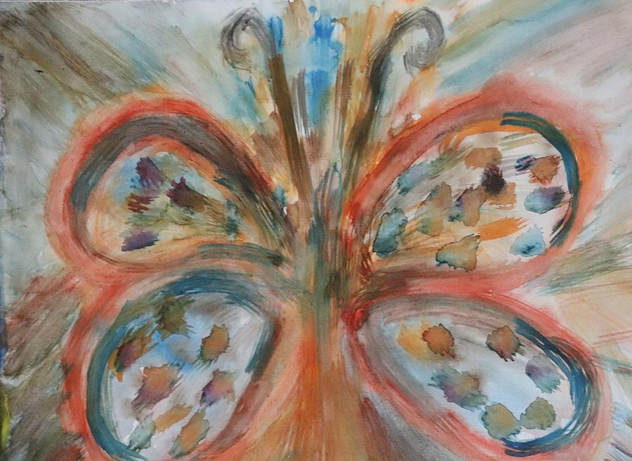 Butterfly In Abstract Painting