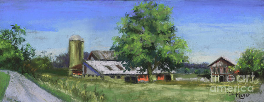 Byers Woods Barn With A View Painting