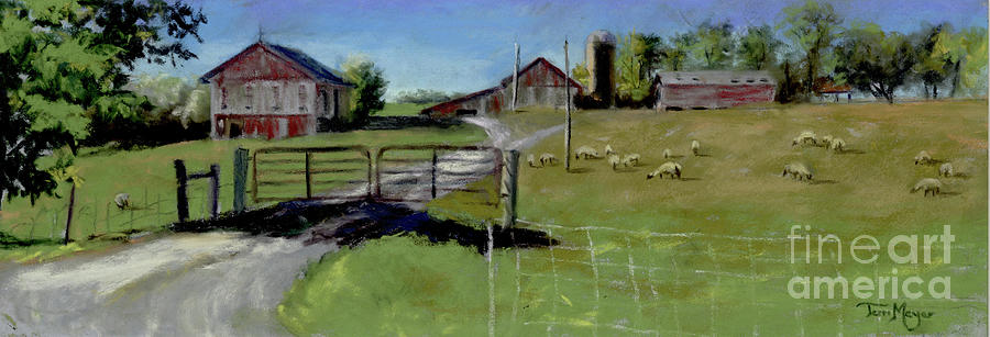 Byers Woods Farm Painting