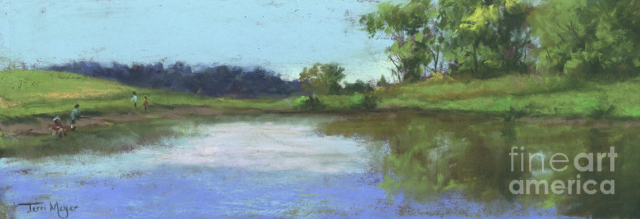 Byers Woods Fishing Hole Painting
