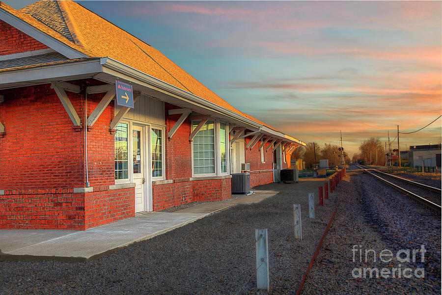 Travel Photograph - C. and E. I. Depot , Marion, Illinois by Larry Braun