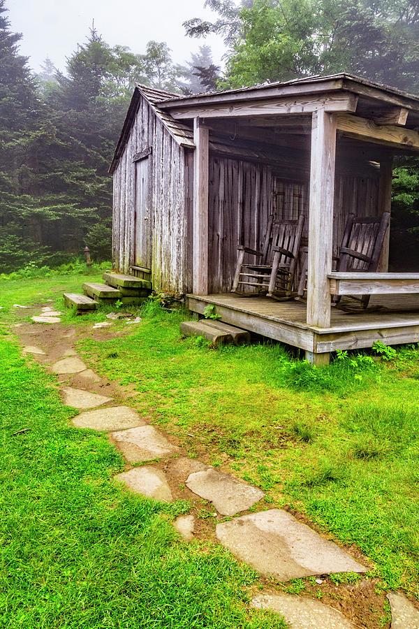 Cabin at the Top of Mt Le Conte by Debra and Dave Vanderlaan
