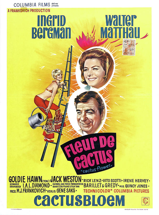 cactus Flower With Ingrid Bergman And Walter Matthau, 1969 Mixed Media