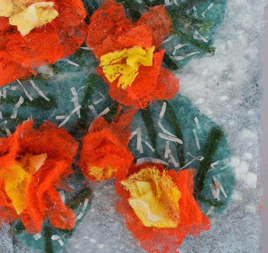 Dryer Sheets Mixed Media - Cactus Flowers by Charla Van Vlack