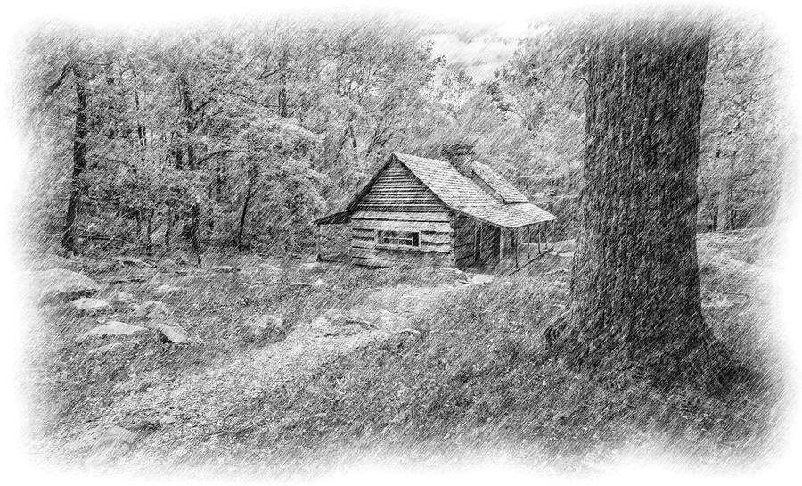 Cades Cove Cabin Iv Digital Art