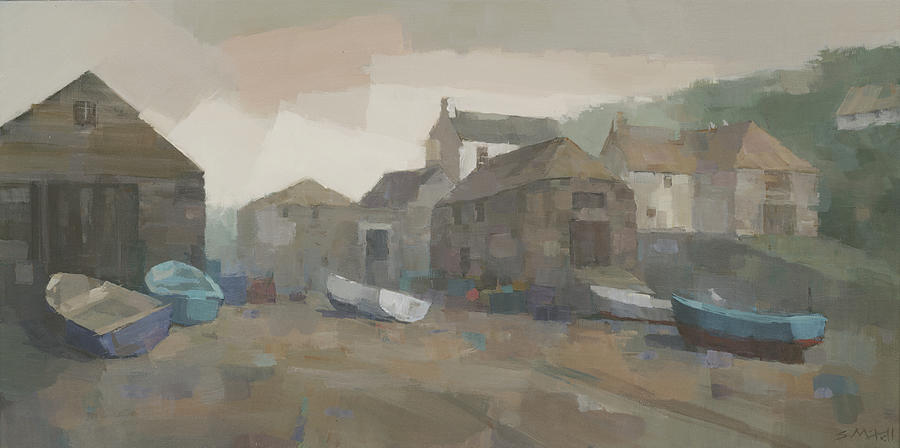 Cadgwith Painting - Cadgwith Cove by Steve Mitchell
