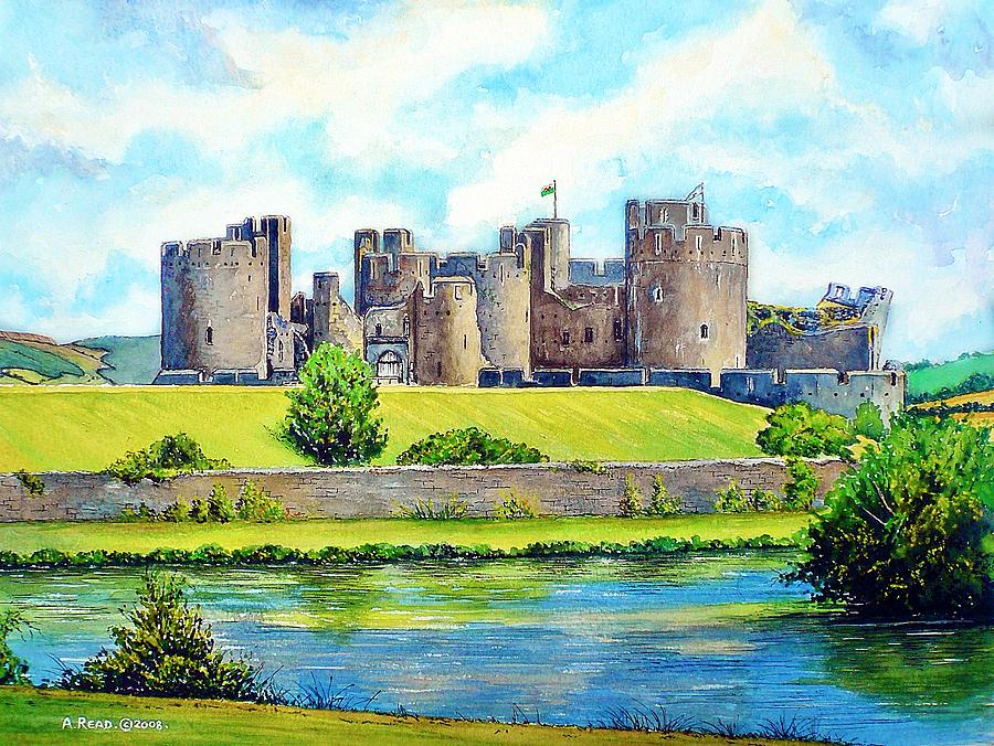 Caerphilly Castle Version 2 Painting