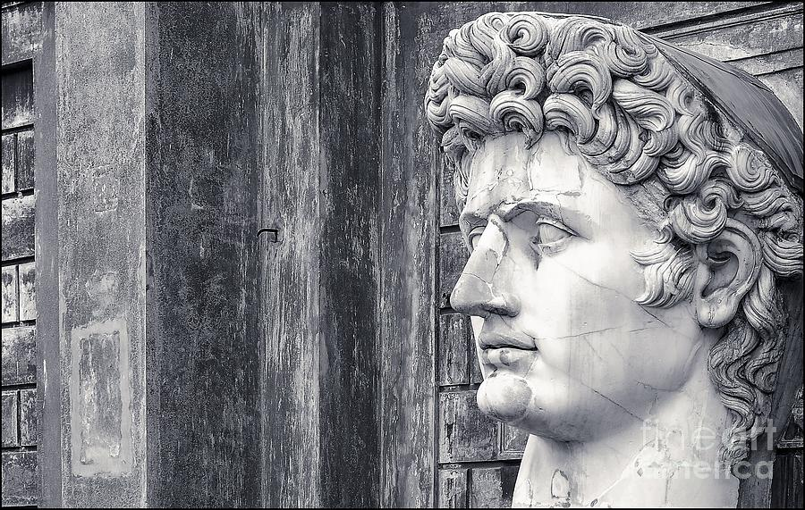Black And White Photograph - Caesar Augustus at Vatican Museums 3 by Stefano Senise