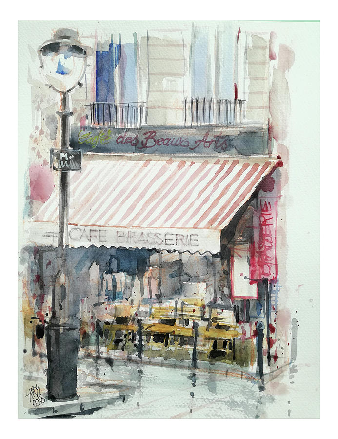 Cafe Brasserie Painting