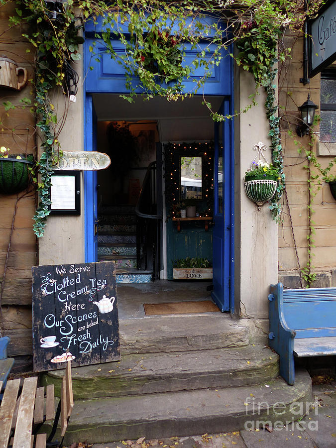 Cafe Entrance - Durham by Phil Banks