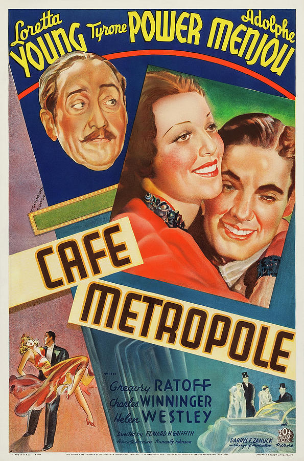 cafe Metropole Poster 1937 Mixed Media
