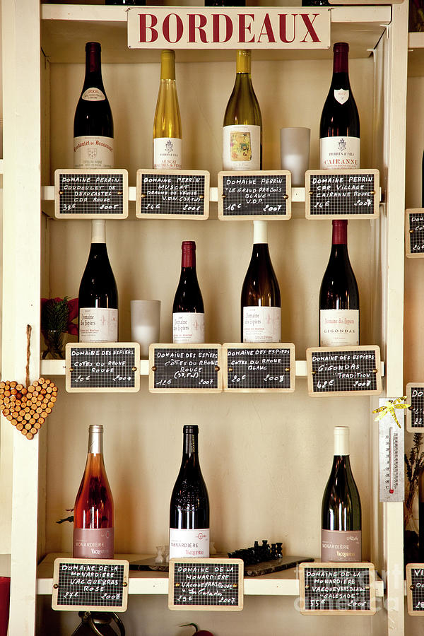 Cafe Shelves II - Provence France Photograph