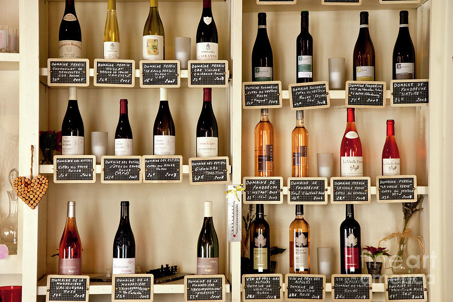 Cafe Shelves - Provence France Photograph