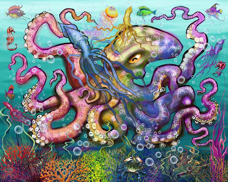 Calamari Party Digital Art