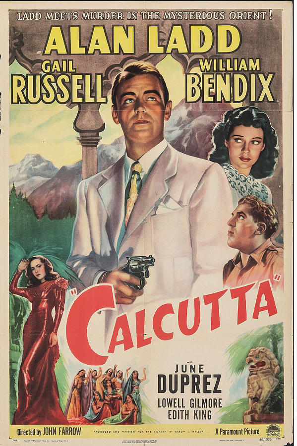 calcutta Poster 1947 Mixed Media