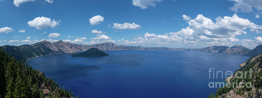Crater Lake Photograph - Caldera Panorama  by Michael Ver Sprill
