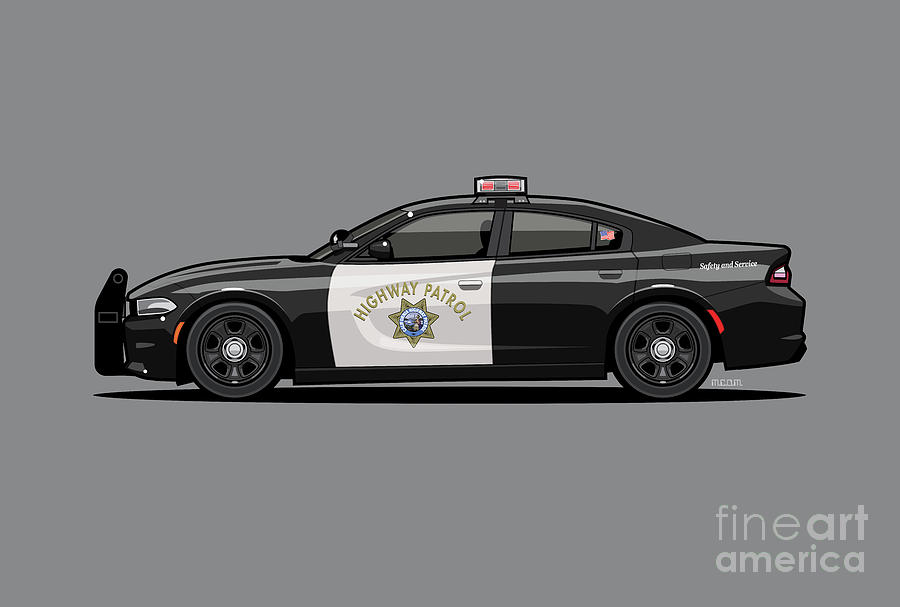 California Highway Patrol D0dge Ch4rger Police Car by Monkey Crisis On Mars