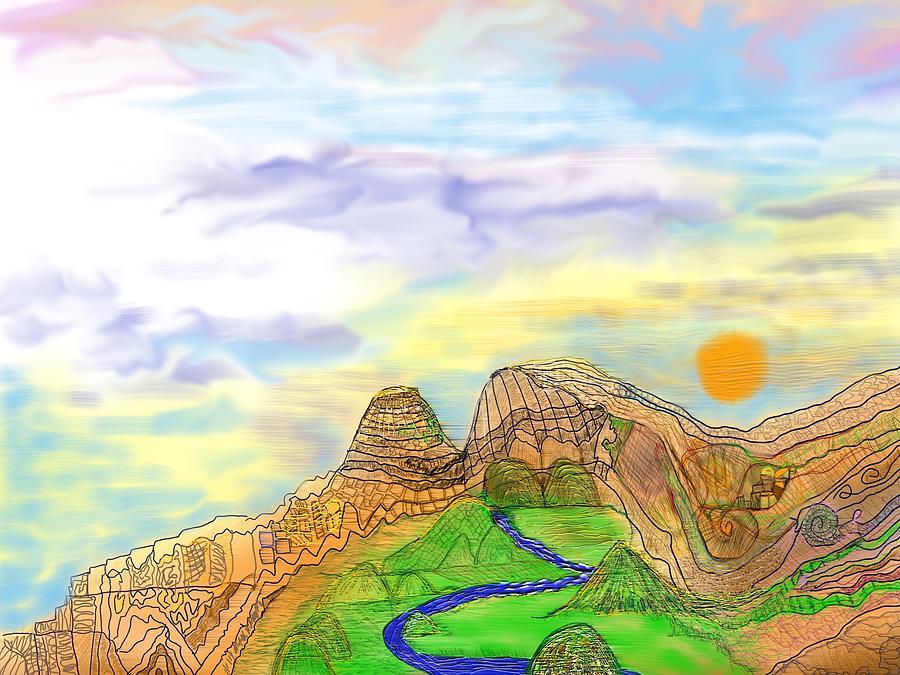 California Sierra Nevada Digital Art