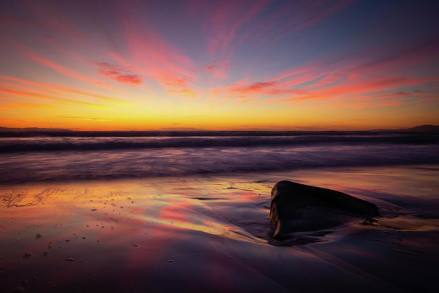 Beach Photograph - California Sunset by Jake Sublett