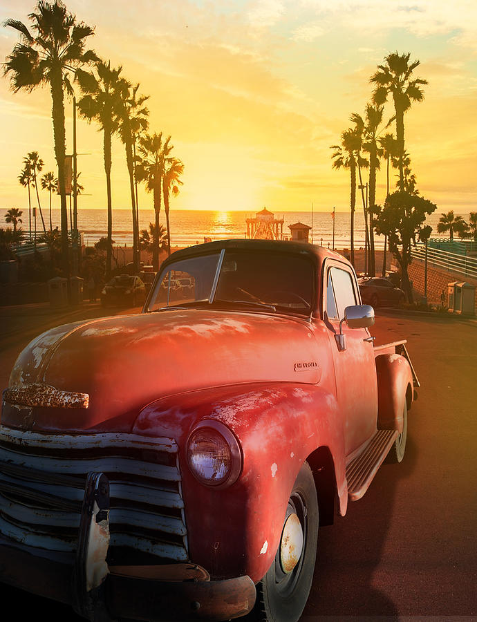California Sunset With Chevy Pickup Photograph