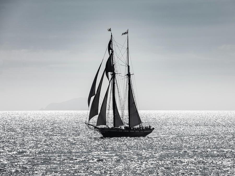 Schooner Californian Off San Clemente Island Photograph