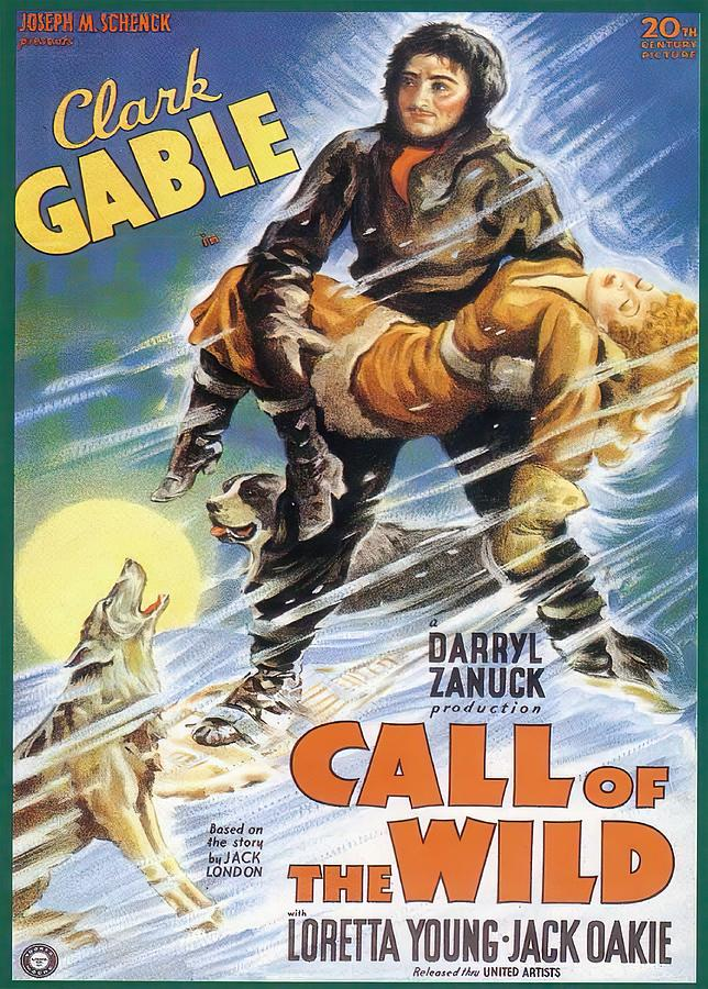call Of The Wild, With Clark Gable And Loretta Young, 1935 Mixed Media