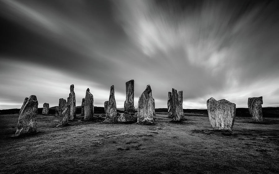 Callanish Stones Photograph - Callanish Stones 1 by Dave Bowman