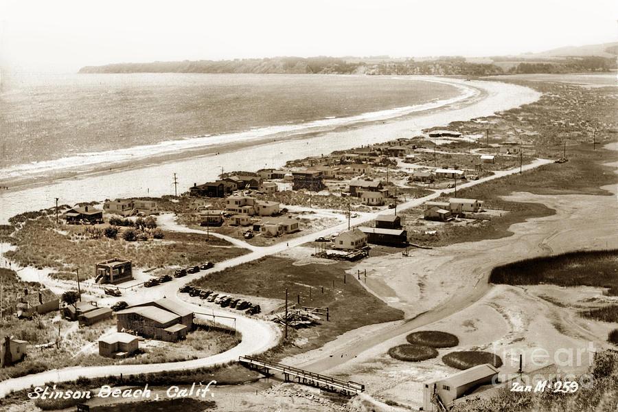 Calle Del Arroyo  Stinson Beach, California Circa 1948 by California Views Archives Mr Pat Hathaway Archives
