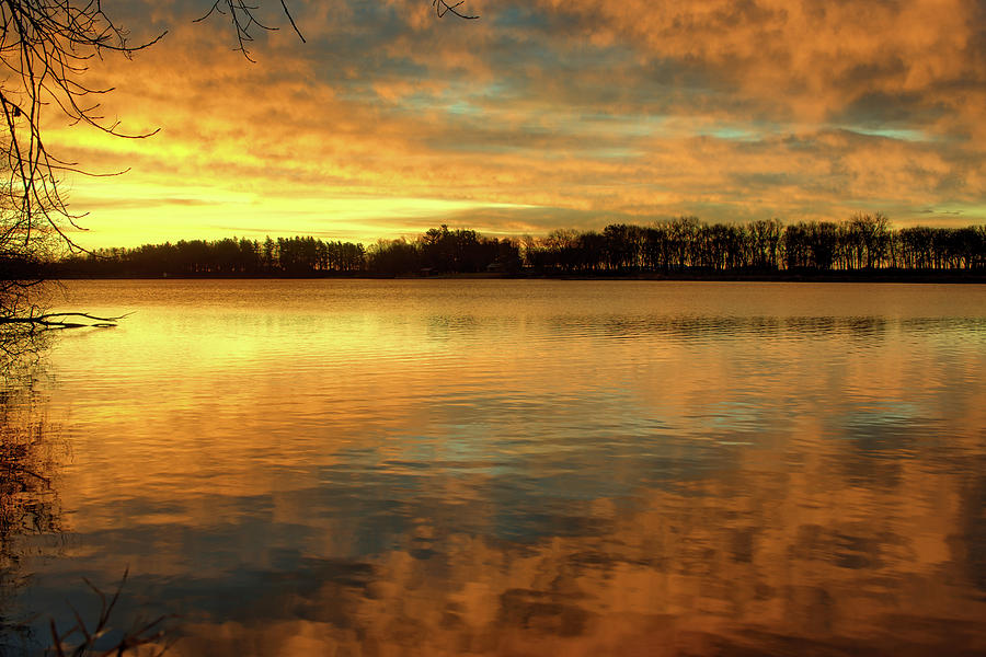 State Park Photograph - Calm November Rise 2 by Bonfire Photography