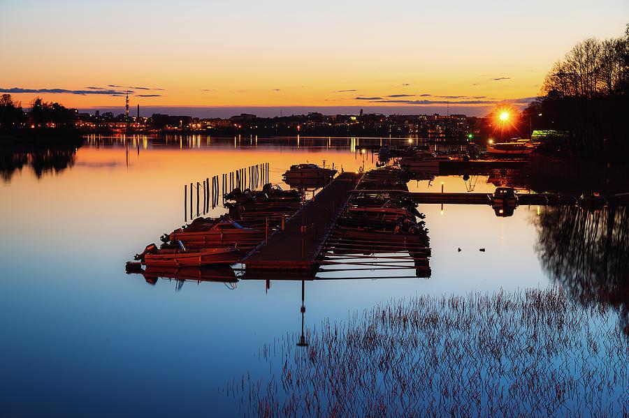 Background Photograph - Calm summer night by Marko Hannula