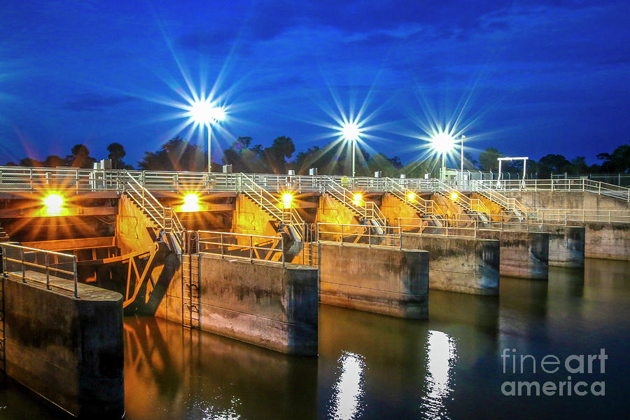 Calm Water and Bright Lights by Tom Claud