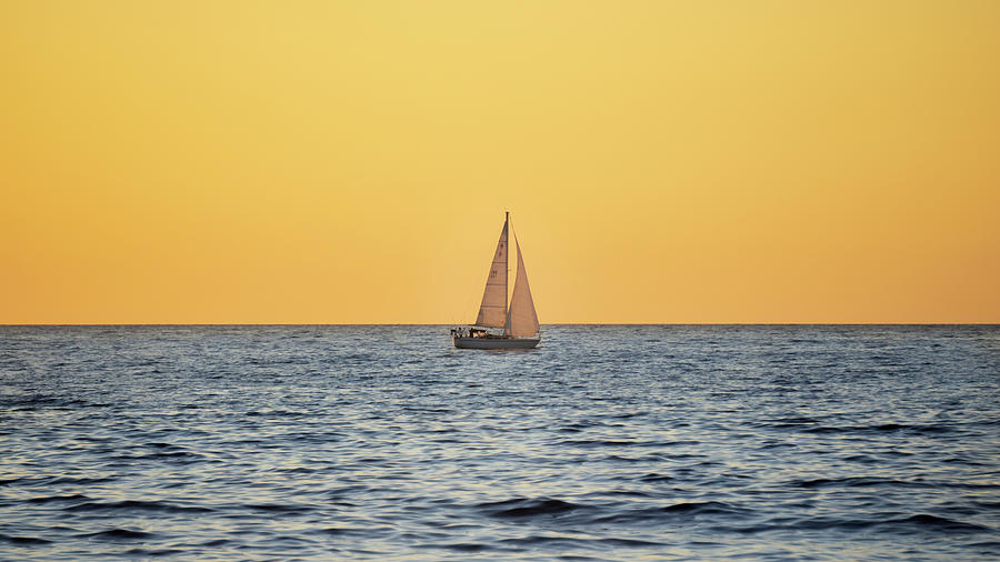 Sail Photograph - Calm Waters by GraphiGlyphics Photography