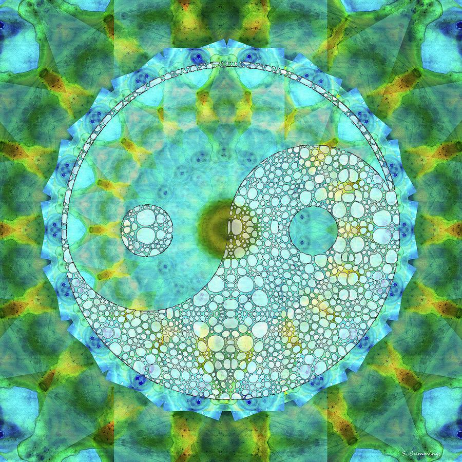 Yin Painting - Calming Yin And Yang Art - Sharon Cummings by Sharon Cummings