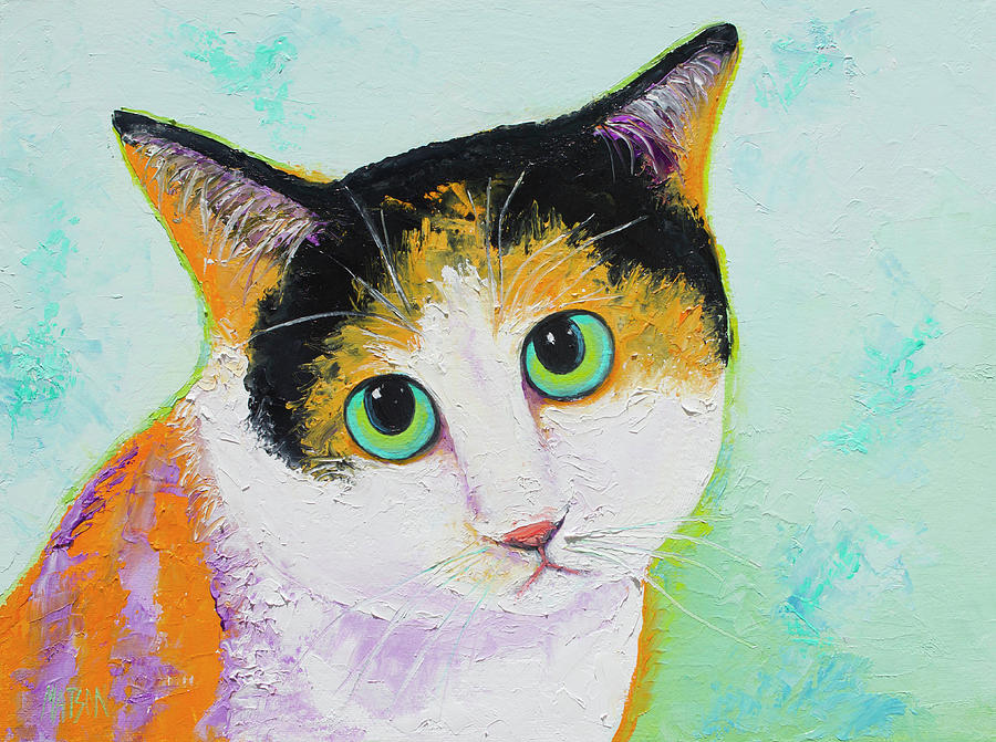 Calvin The Calico Cat Painting