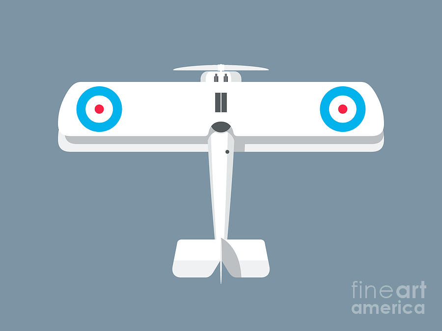Aircraft Digital Art - Camel WWI Biplane Aircraft - Landscape Slate by Organic Synthesis