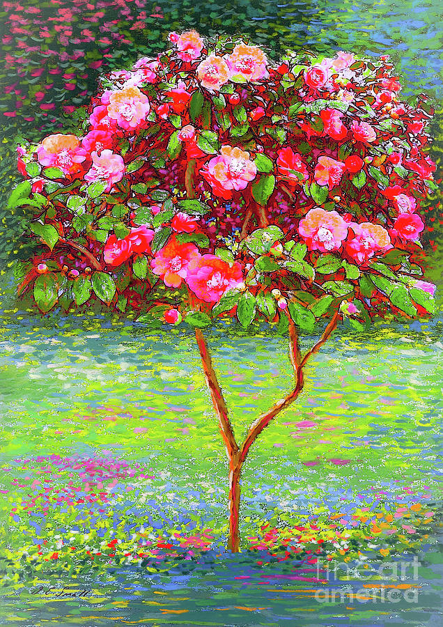Floral Painting - Camellia Passion by Jane Small