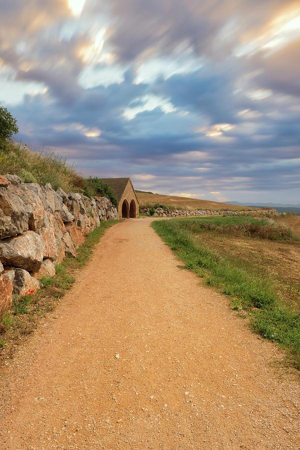 Camino De Santiago As It Passes Through Navarra Photograph