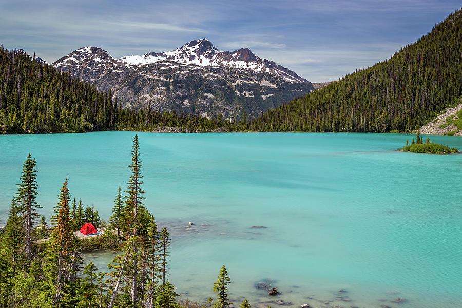 Camping At Upper Joffre Lake Photograph