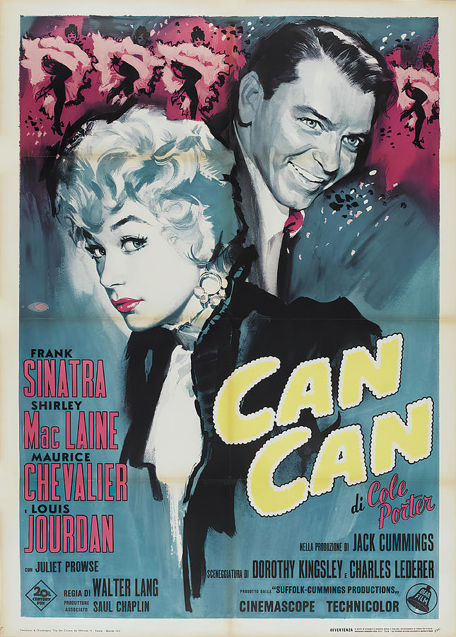 can-can, With Frank Sinatra And Shirley Maclaine, 1960 Mixed Media