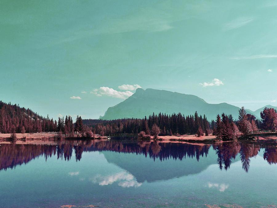 Canada Banff Lake Alberta - Surreal Art By Ahmet Asar Digital Art