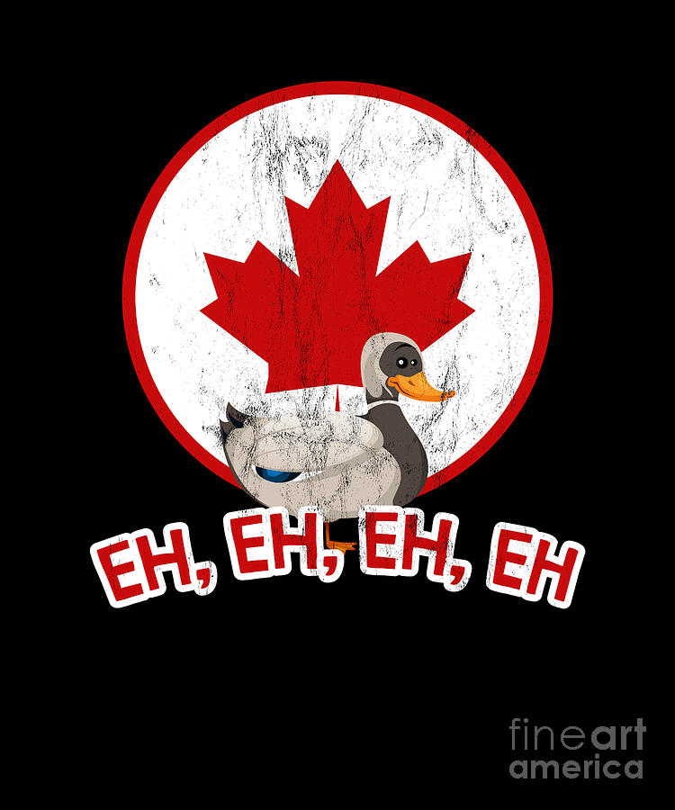 Proud Drawing - Canada Goose Eh With Canadian Flag  by Noirty Designs